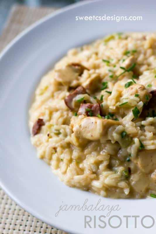Creamy one pot chicken risotto with vegetables for How do i make chicken risotto