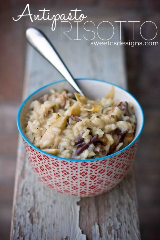 Antipasto Risotto- this is such a delicious recipe! #recipe #risotto #italianfood #sp