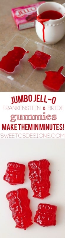 awesome last minute halloween snack- jumbo jello gummies!