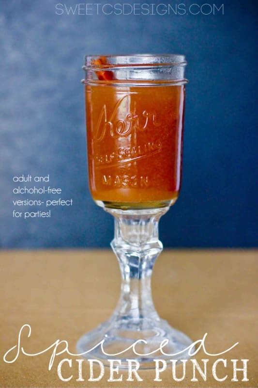 spiced cider punch- the perfect crockpot drink for fall and winter parties!