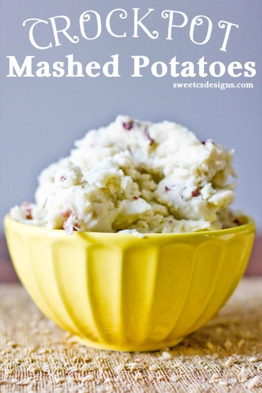 Crockpot mashed potatoes- save stovetop space and make your spuds in the crockpot!