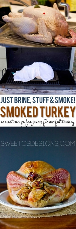 Foolproof delicious turkey that is never dry- Smoked Turkey!