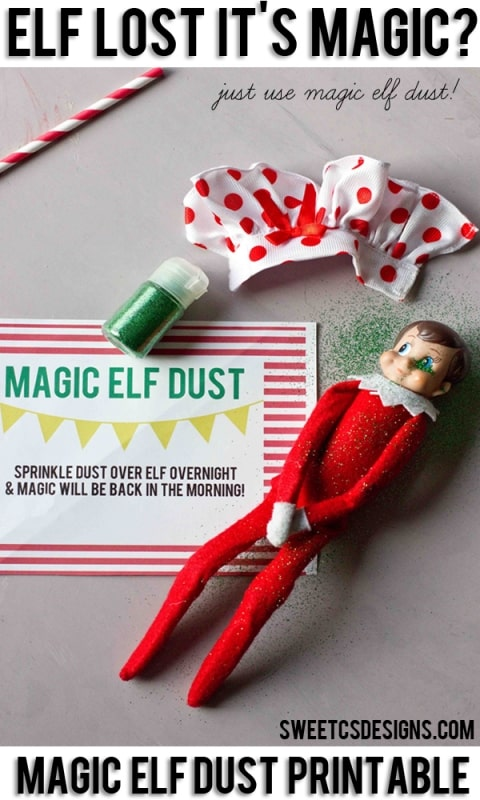 elf on a shelf magic dust printable sweet c 39 s designs