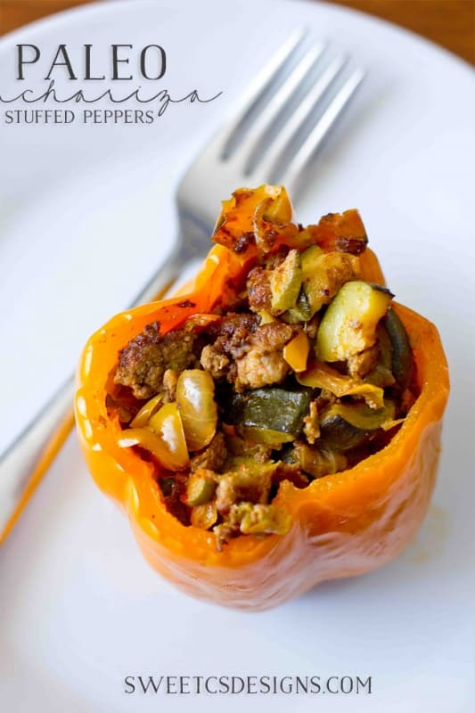 Paleo stuffed peppers- these are full of flavor, and are grain and dairy free!