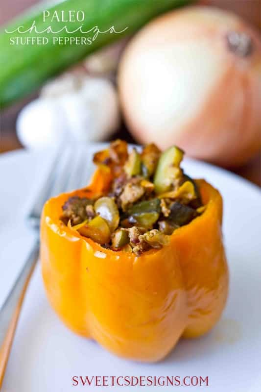 Paleo stuffed peppers- these are full of flavor, and naturally grain and dairy free!