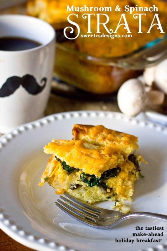 Spinach And Egg Strata Recipe — Dishmaps