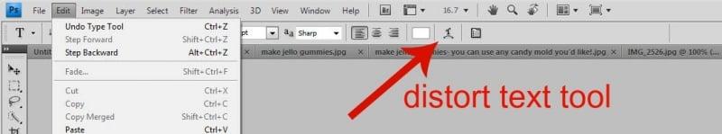 distort text tool