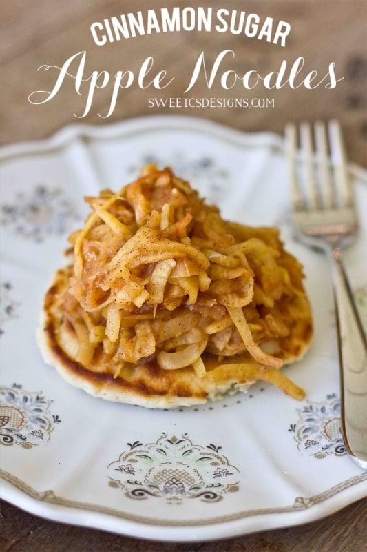 Cinnamon Sugar Apple Noodles Sweet Cs Designs