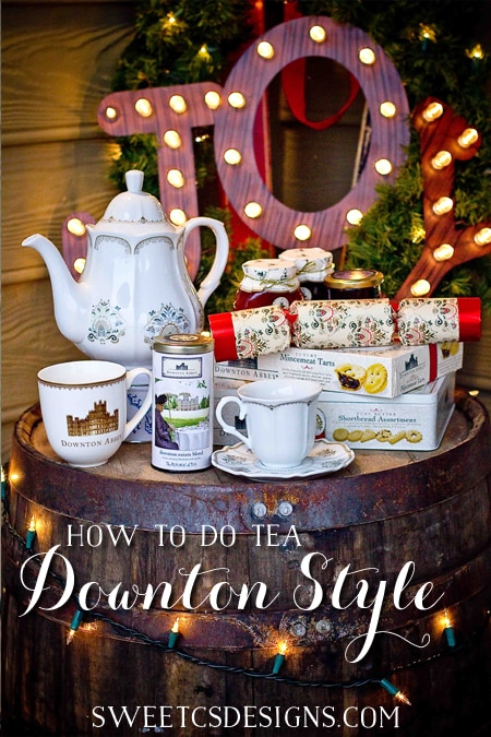How to do tea downton style- throw a tea party this holiday season!