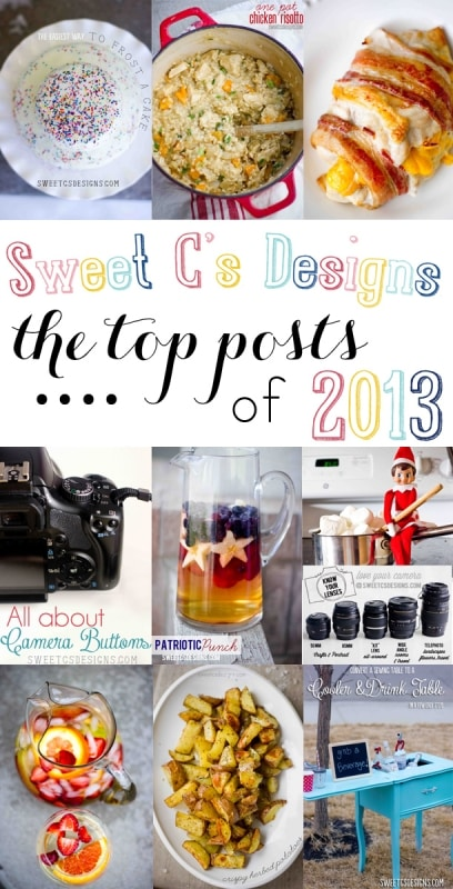 The Top Posts of Sweet C's Designs 2013- tons of great recipes, photography tips, DIY and more!
