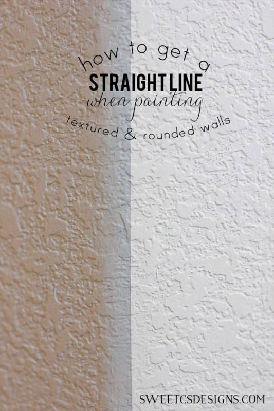Line Texture Paint : Get a clean paint line on textured rounded walls ⋆ sweet