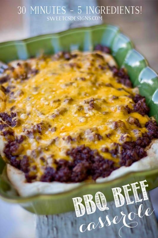 Cheesy BBQ Beef \u0026 Biscuit Casserole