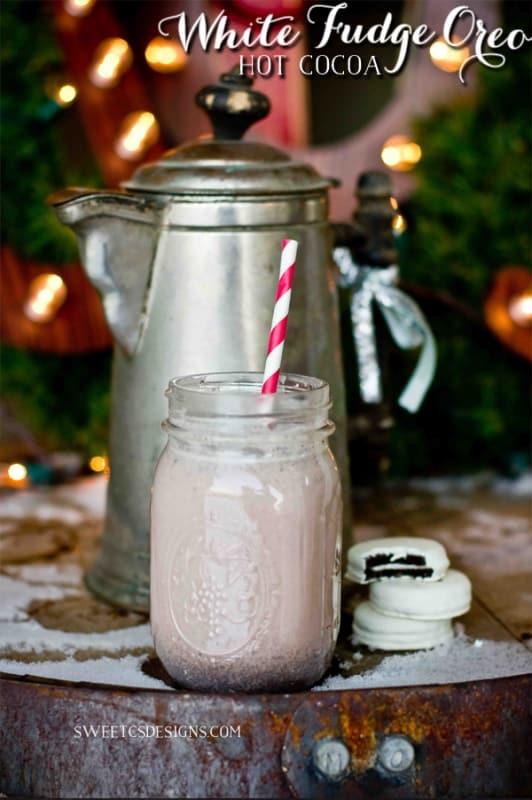 whtie fudge oreo hot cocoa- this is SO good!