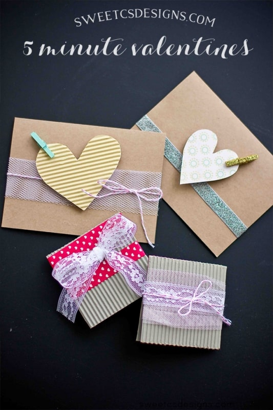 5 minute valentines- great ideas on fun, unique valentines you can make in minutes!