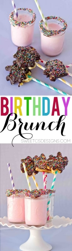 Our favorite new tradition- Birthday Brunch! This is such a fun way to celebrate at the beginning of the day!