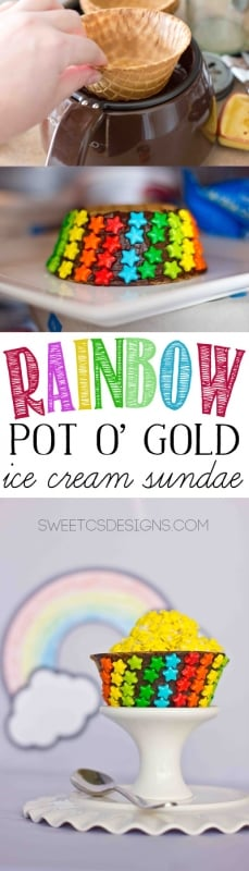 Rainbow Ice Cream Sundaes - these are so cute and easy to make for parties!