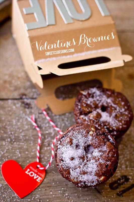 Valentine Brownie: Pink Sugar Valentines Brownies & Treat Boxes