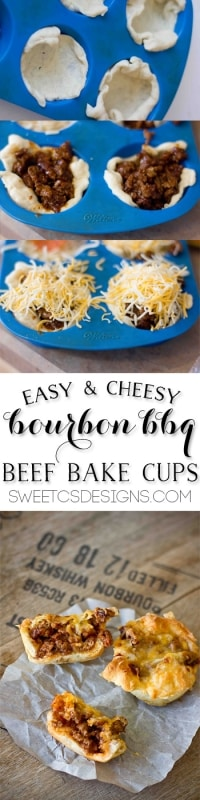 bourbon and bbq beef cups- these are so delicious! You can make it without the bourbon too!