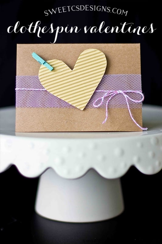 clothespin valentines- sun a fun twist on DIY love notes!